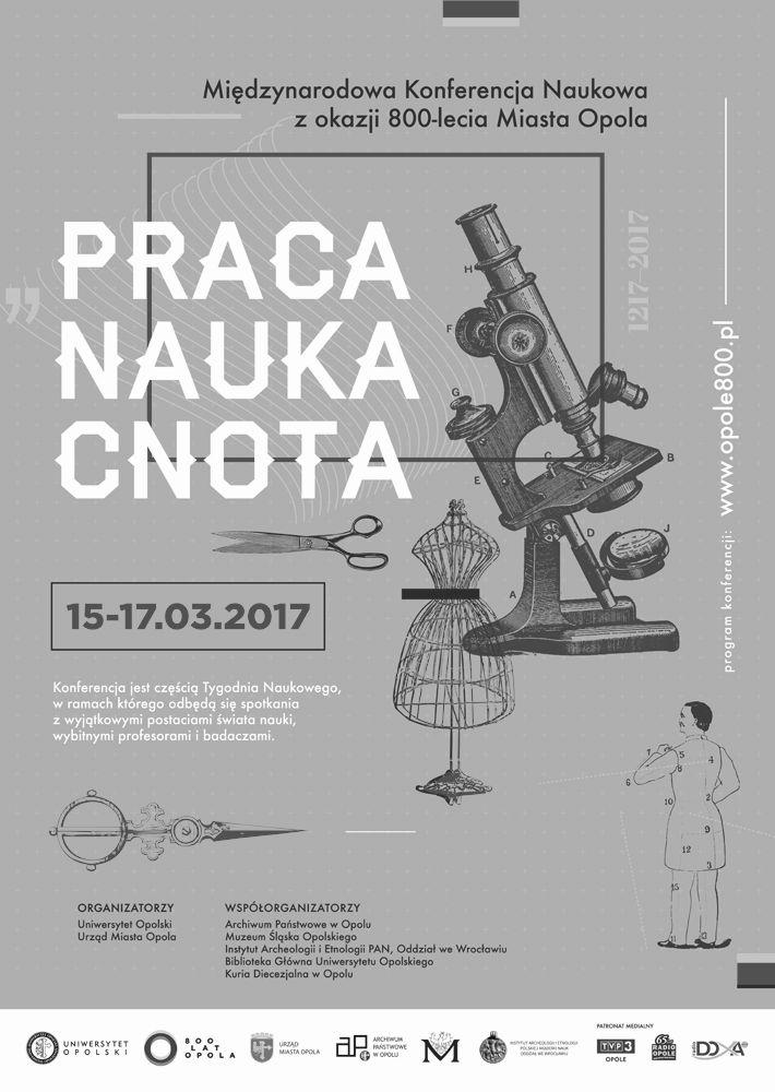 Plakat konferencja Praca-Nauka-Cnota